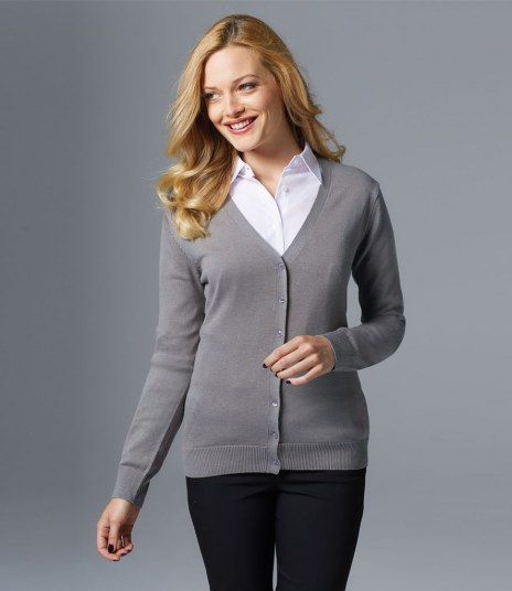 SOL'S Ladies Golden Cotton Acrylic V Neck Cardigan – Workplace ...